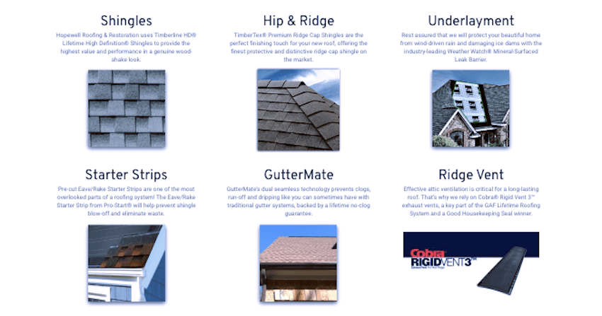 residential roofing options